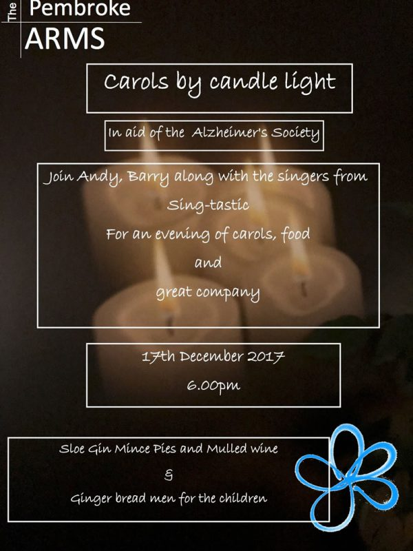 Carols by Candle light in aid of Alzheimer's Society