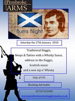 Burns Night January 27th 2018