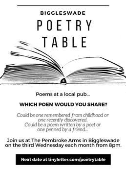 Biggleswade Poetry Table